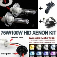 75W/100W Xenon HID Headlight Foglamp Conversion Kit Headlamp Foglight DRL Lights