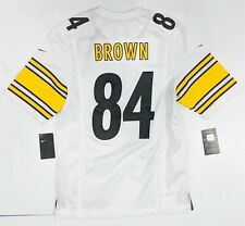 -Antonio Brown Pittsburgh Steelers Men's Nike White Game Jersey