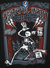 GRATEFUL DEAD SHOWTIME BLACK T-SHIRT NEW OFFICIALLY LICENSED LIQUID BLUE M/L/XL