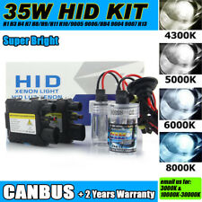 35W Xenon HID Headlight Headlamp Conversion Kit DRL Foglight Foglamp Bulbs DC/AC