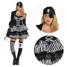Ladies Medieval Caribbean Pirate Wench Steampunk Halloween Fancy Dress Costume