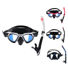 Adult Swimming Snorkeling Scuba Dive Diving Goggles Mask & Dry Snorkel Set
