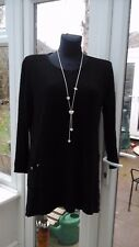 KASBAH - BLACK TEXTURED TUNIC 14/16; 16/18; 20/22; 24/26 (H60A) - BNWT