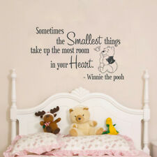 Quote Winnie Pooh Wall Decal, Lettering Winnie Pooh Bedroom Wall Sticker