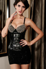 Sexy Patent Under Breast Corsage Corsage Corset Bustier Top Black