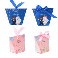 50pcs Sweet Love Deer Bear Candy Boxes Wedding Party Favour Gift Boxes w/ Ribbon