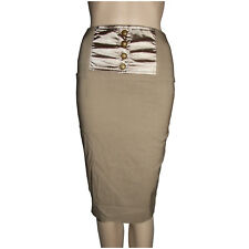 FILO WOMENS SKIRT SIZES 8 & 12 BROWN PENCIL SKIRT FITTED BUTTON