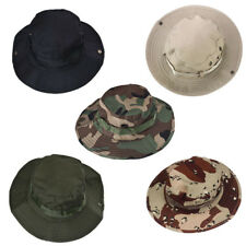 Unisex Canvas Boonie Hunting Fishing Outdoor Wide Cap Brim Military Bucket Hat