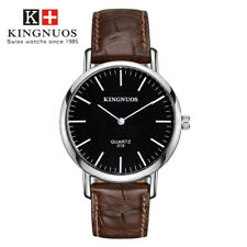 Fashion Brand Casual Mens Watch Simple Round Leather Strap Quartz Wristwatch New