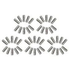 50pcs Silver Plated 3 Rows Beads Spacer Bar Crystal Beads DIY Chain Bracelet