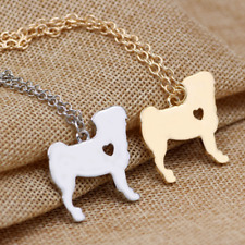 Simple Cute Puppy Dog Necklace Heart Pet Lover Memorial Charm Pendant Chain Gift