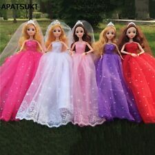 "Colorful Doll Dress For 11.5"" 1:6 Doll Lace Evening Gown Clothes Wedding Dresses"