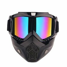 Flexible Modular Riding Motorcycle Face Mask Helmet Goggles Shield Motorbike UK