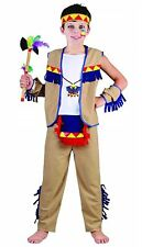 Boys West Indian Native Costume Childrens Wild Red Indian Fancy Dress Outfit