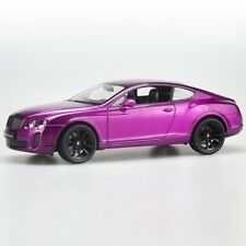 1:24 Welly Bentley FX Continental GT Supersports Car Diecast Model Silver/Purple