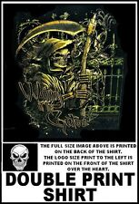 HOODED GRIM REAPER SKELETON IS WAITING AT THE GATES FOR YOU SKULL T-SHIRT WS127