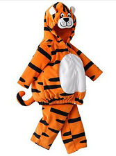 NWT Sizes 3-6 6-9 Months Carters Tiger Hooded Bubble Pant Halloween Costume