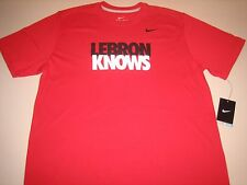 "Nike Lebron James ""LeBron Knows"" Dri-Fit T-Shirt Gym Red Men's Large XL 2XL BNWT"