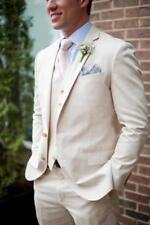 Groomsmen White Tuxedos Men Wedding Suits Two Button 3PCS 38 40 42 44 46+Custom