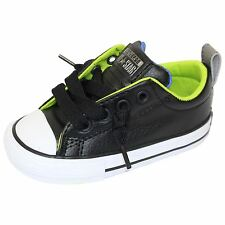 CONVERSE INFANT TRAINERS CHUCK TAYLOR ALL STAR STREET SLIP BLACK SNEAKERS