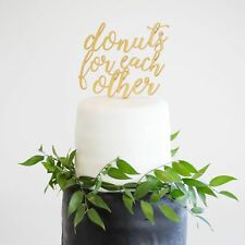 Wedding or Bridal Shower Cake Topper Donuts For Each Other Cake Topper Party
