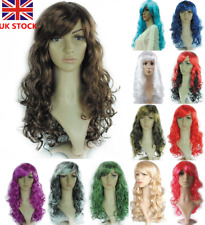 50CM Women Wavy Curly Long Full Wig Hair Cosplay Costume Anime Party Wig+Wig Cap