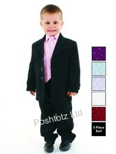 Boys Suits 5pc Pink & Formal Suit Wedding Pageboy Christening (0-3mths-14yrs)