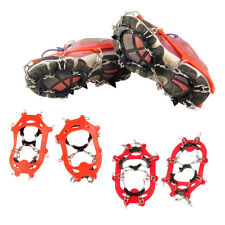 Anti Slip 11-Teeth POINT Ice Snow Shoes Spikes Grips Boots Crampons Grippers