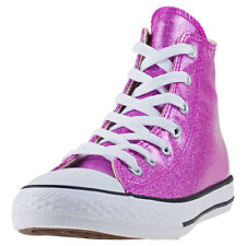 Converse Chuck Taylor All Star Hi Kids Trainers Violet New Shoes