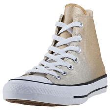 Converse Chuck Taylor All Star Hi Womens Trainers Gold New Shoes