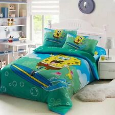 Spongebob Comforter Bedding Sets Blue Green Children's bedroom decor 3-5 pcs