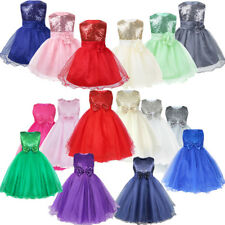 Flower Girl Tutu Dress Kids Sequins Princess Party Wedding Bridesmaid Gown Dress