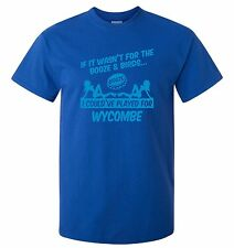 WYCOMBE WANDERERS FAN THEMED BOOZE AND BIRDS T-SHIRT