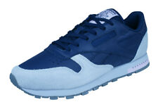 Reebok Classic Leather Womens Trainers / Casual Sports Shoes - Navy Grey