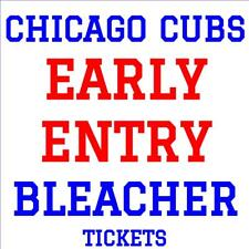 CHICAGO CUBS · EARLY ENTRY BLEACHER TICKETS · JUNE 18 vs LA DODGERS  BOBBLEHEAD!