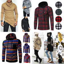 6-Style Fashion Men's Slim Fit Long Sleeve Muscle Tee Casual Shirt Hoodies Tops