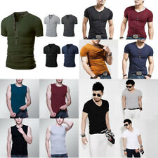 Fashion Men's Shirt Slim Fit Short Sleeve Muscle Basic Tee Casual Tops T-Shirts