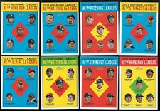 2012 Topps Heritage League Leaders Subset Single Cards LL AL/NL Set