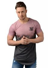 Sik Silk T-Shirt - Mens 12123 Curved Hem Faded Tee in Antique