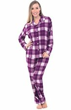 Womens Flannel Pajamas Long Cotton Pj Set