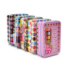 Mini Tin Metal Container Small Rectangle Lovely Storage Box Case Pattern JKCA