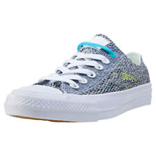 Converse Ct All Star Ii Ox Lunarlon Womens Trainers Grey Blue New Shoes