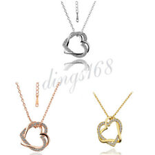 Daily Special 70%OFF 18K Gold Filled Crystal Love Heart Pendant + Necklace Chain