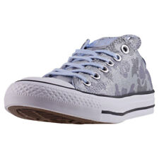 Converse Ctas Ox Lurex Camo Womens Trainers Blue New Shoes