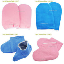 Paraffin Wax Protection Gloves Soak Off UV Gel Nail For Hand Foot Blue / Pink