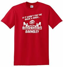 BARNSLEY FAN THEMED BOOZE AND BIRDS T-SHIRT