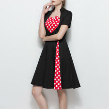 50'S 60'S ROCKABILLY DRESS Hepburn Style Swing Pinup Retro Housewife Party Dress