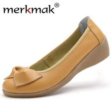 Genuine Leather Women Flats Shoes