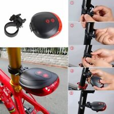 2 Laser 5 LED Bike Bicycle Cycling Tail Rear Safety Warning Light Flashing Lamp