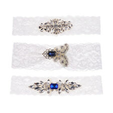 Wedding Lace Crystal Garter Throwaway Toss Hen Night Party Bridal Accessory